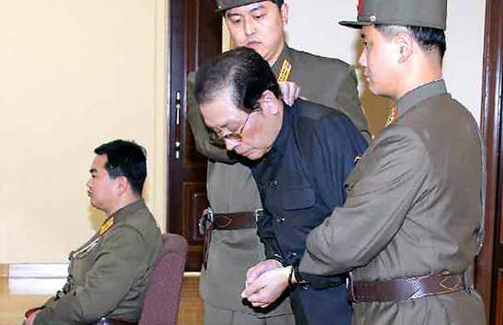 Перед заседанием военного трибунала министерства народной безопасности КНДР