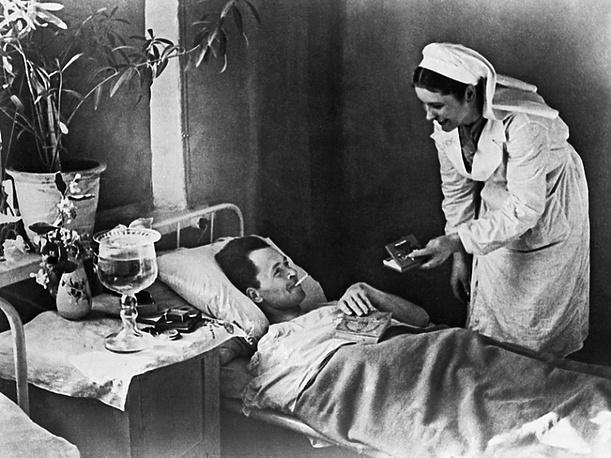В госпитале.1943 г.