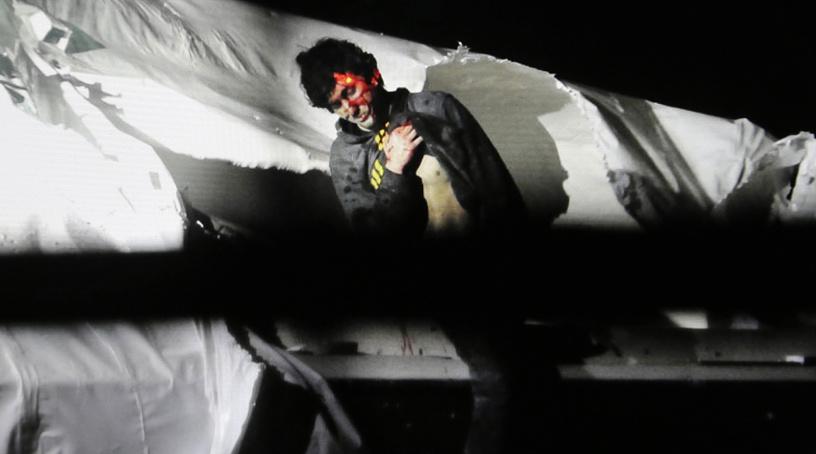 Теракт в Бостоне. Джохар Царнаев в момент ареста