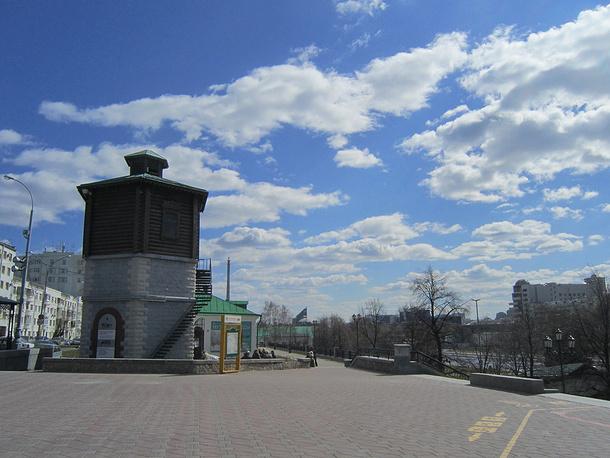 Водонапорная башня в Историческом сквере Екатеринбурга