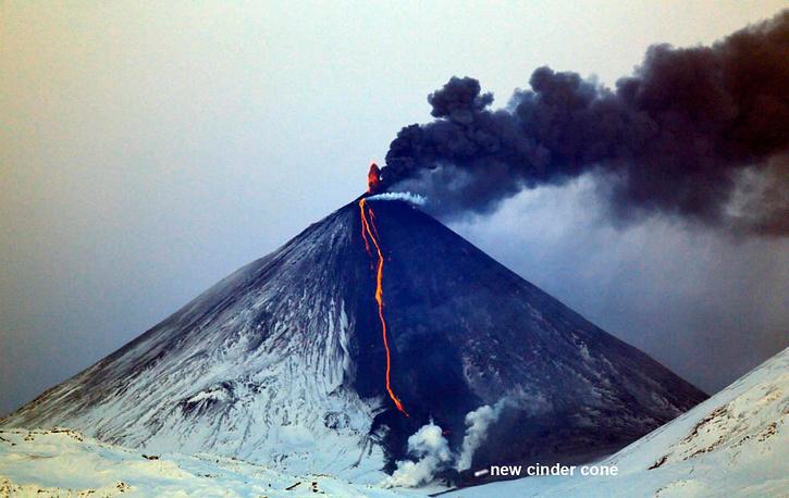 На Камчатке зафиксирована активизация вулканов Ключевская Сопка и Шивелуч