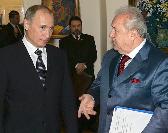 Президент России Владимир Путин и президент Российской академии художеств Зураб Церетели, 2006