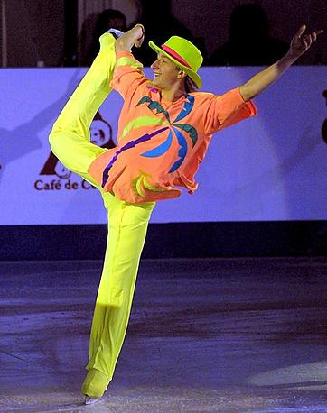 Плющенко России во  время выступления  на чемпионате Европы в Братиславе. 2001 г.