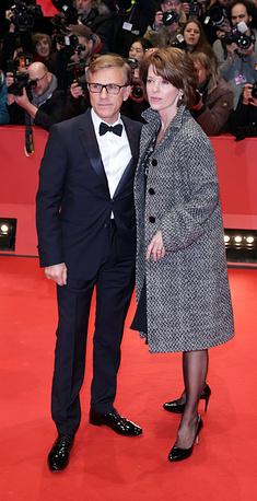 Актер Кристоф Вальц с женой Юдит