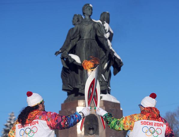 Этап эстафеты олимпийского огня в Волгограде, 20 января 2014 г.