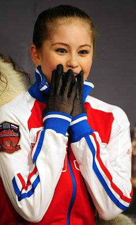 Екатеринбургская фигуристка Юлия Липницкая выиграла золотую медаль на Чемпионате Европы в Будапеште в 2014 году