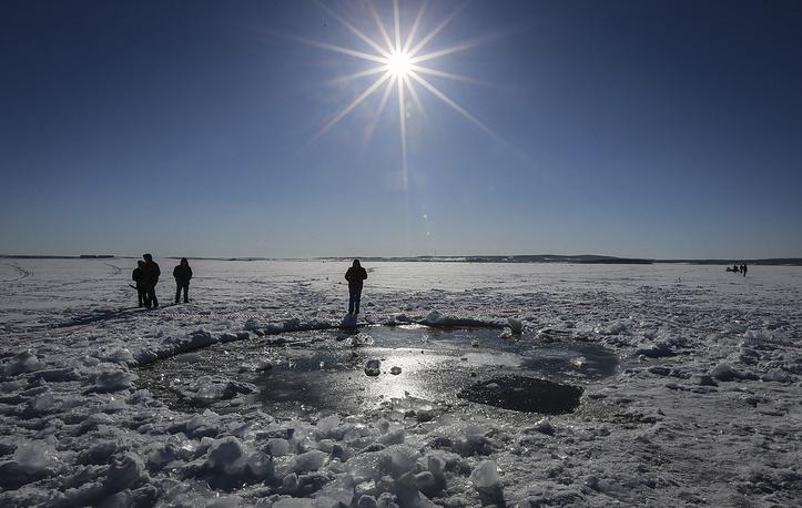 Озеро Чебаркуль. Место падения осколка метеорита