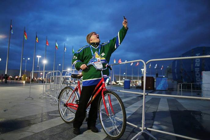 Российский болельщик в Олимпийском парке