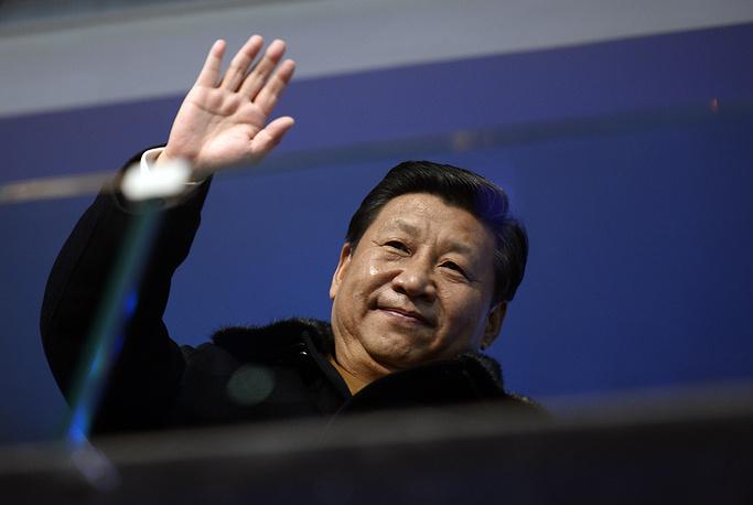 Председатель КНР Си Цзиньпин на церемонии открытия Олимпиады. Си Цзиньпин заявил, что Китай хотел бы перенять у РФ опыт в подготовке зимних Олимпийских игр