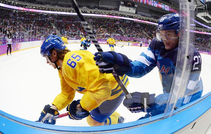 Мужская сборная Швеции стала первым финалистом олимпийского хоккейного турнира
