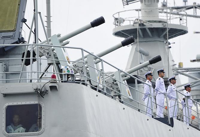 """Во время российско-китайских военно-морских учений """"Морское взаимодействие 2013"""""""