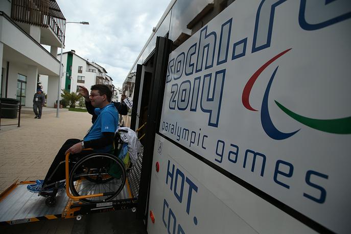 Финские керлингисты в Паралимпийской деревне