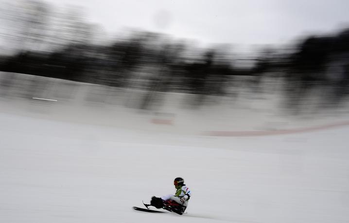 Тренировки на Паралимпийских играх в Сочи