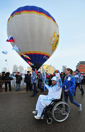 Этап эстафеты Паралимпийского огня в Рязанской области