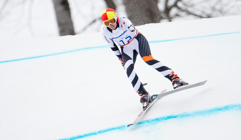"""Немецкая горнолыжница Андреа Ротфусс выиграла серебро в суперкомбинации в категории """"стоя"""""""