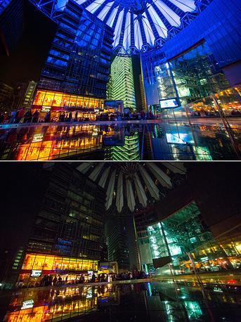 """Германия, Берлин, """"Сони-центр"""" на Потсдамской площади"""