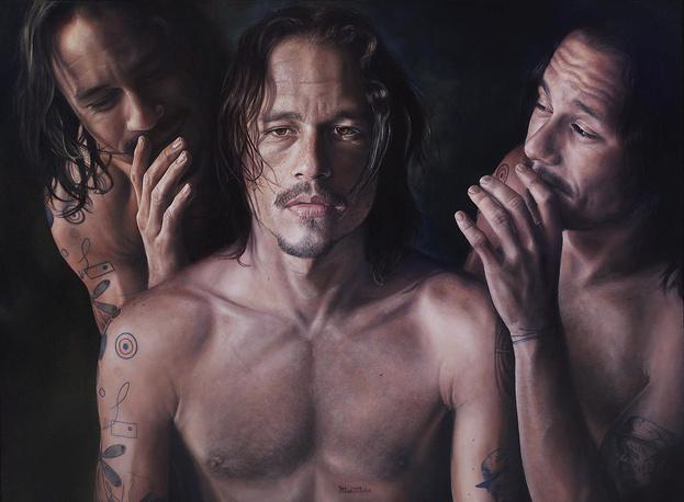 Портрет Хита Леджера художника Винсента Фантауццо, представленный на выставке номинантов Archibald Prize 2008 в Сиднее