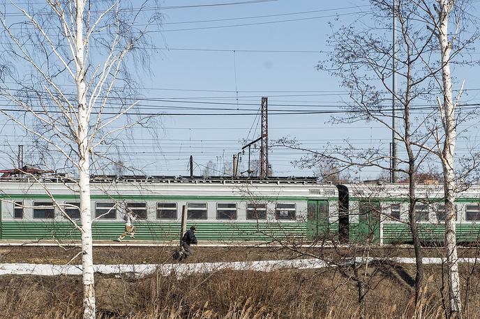 Возле нелегального лагеря для мигрантов в Екатеринбурге