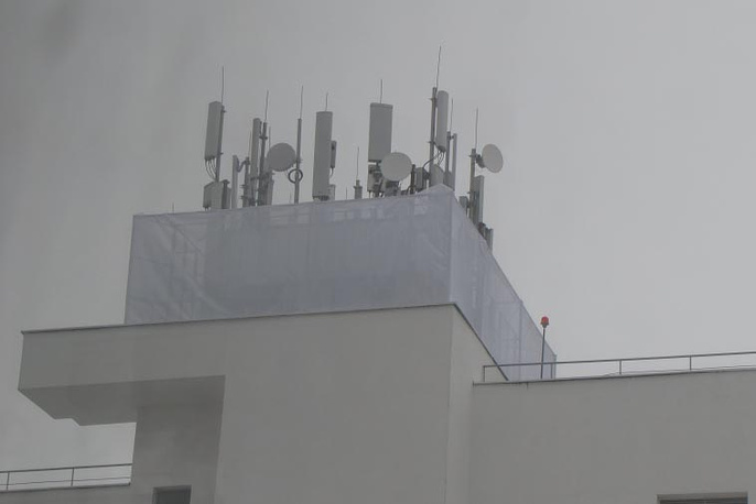 Обнесённые конструкцией антенны на Краснолесья, 151