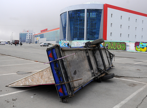 Последствия урагана в Омской области