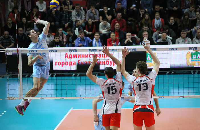 """Матч между командой """"Белогорье"""" и казанским """"Зенитом"""""""