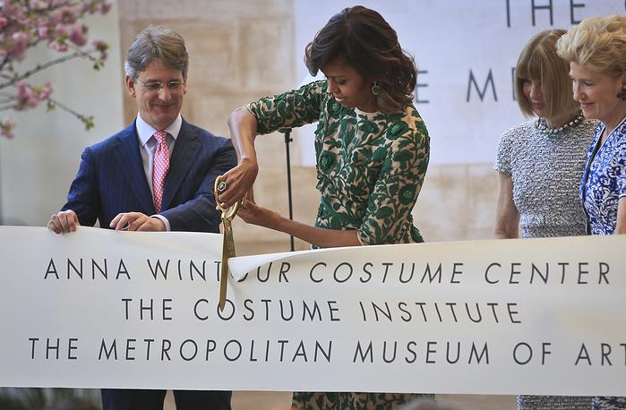 Мишель Обама на открытии Центра костюма имени Анны Винтур