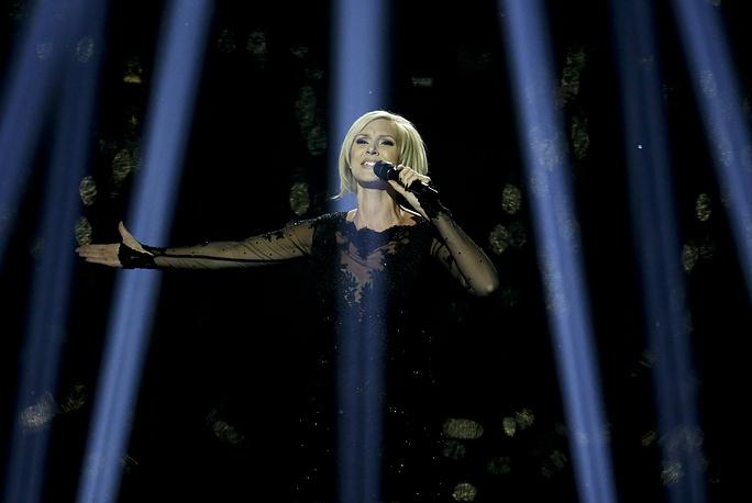 Шведская певица Санна Нильсен, занвяшая третье место