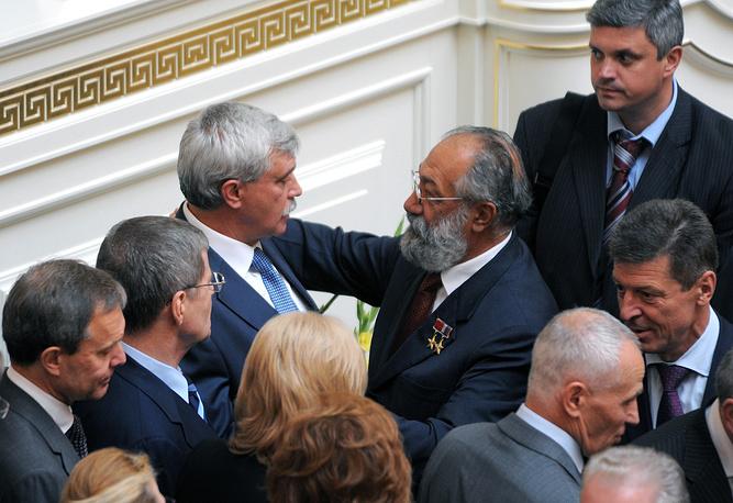 Губернатор Санкт-Петербурга Георгий Полтавченко после церемонии инаугурации. 2011 год