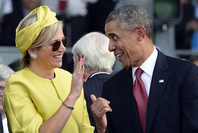 Королева Нидерландов Максима и президент США Барак Обама