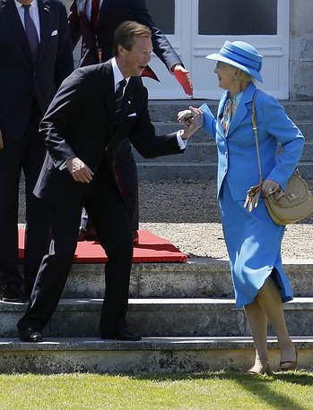 Великий герцог Люксембурга Анри и королева Дании Маргрете II