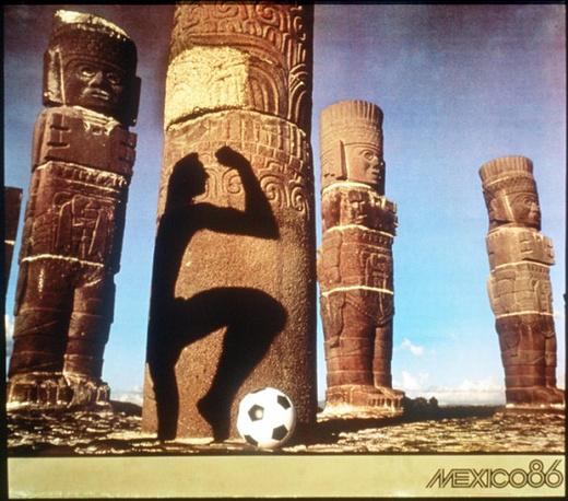 Плакат ЧМ-1986 в Мексике. Сборная Аргентины во второй раз завоевала звание сильнейшей команды планеты, обыграв в финале сборную ФРГ - 3:2