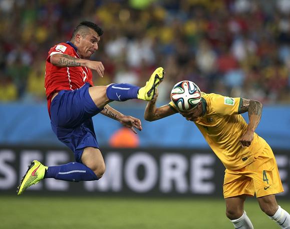 Матч сборных Чили и Австралии закончился победой южноамериканцев со счетом 3:1