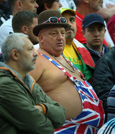 Весьма колоритный болельщик сборной Англии