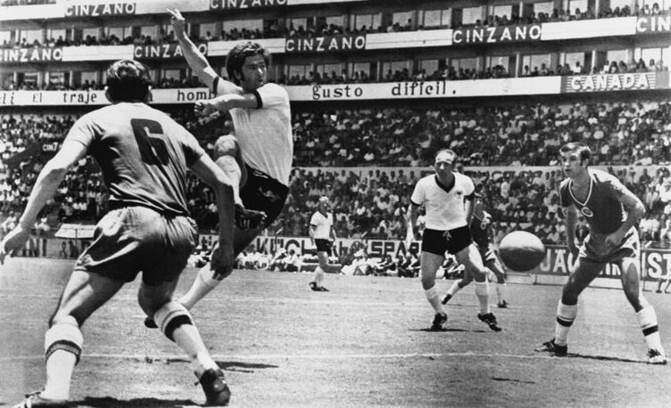 Герд Мюллер (Германия) - 14 голов. Участник чемпионатов мира 1970 и 1974 годов. Лучший бомбардир сборной Германии всех времен. Долгое время был самым результативным игроком финальных стадий чемпионата мира с 14 мячами, пока его не обошел бразилец Роналдо