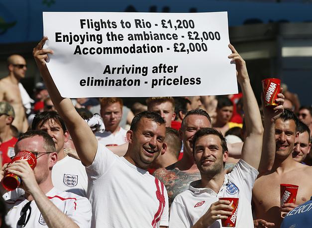 Недовольны английские фанаты потраченными на поездку в Бразилию деньгами