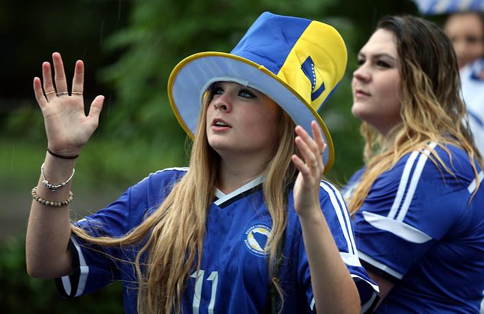 Болельщица сборной Боснии и Герцеговины