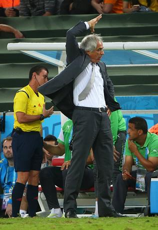 Эмоции главного тренера алжирцев Вахида Халилходжича