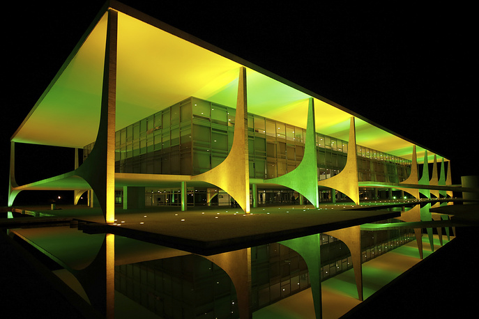 Дворец Планалту - резиденция президента Бразилии - открыт для публики по воскресеньям с 9:30 до 14:00 по местному времени