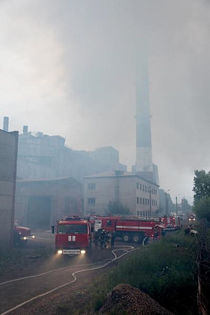 Пожар на Соломбальском ЦБК (Архангельск)