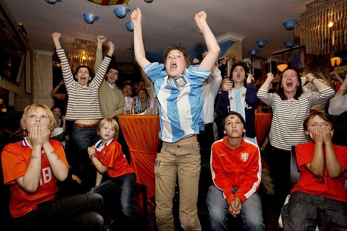 Аргентинские болельщики в экстазе