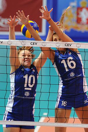 Игроки сборной России Екатерина Косьяненко и Юлия Подскальная (слева направо)