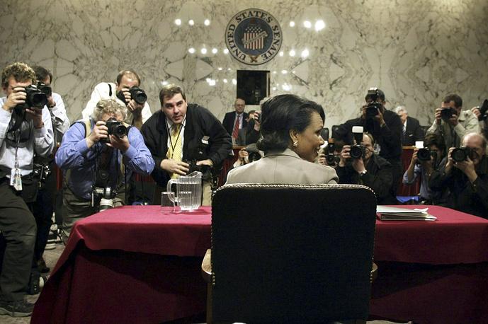 16 ноября 2004 года кандидатура Кондолизы Райс была выдвинута на пост Государственного секретаря США, вместо Колина Пауэлла