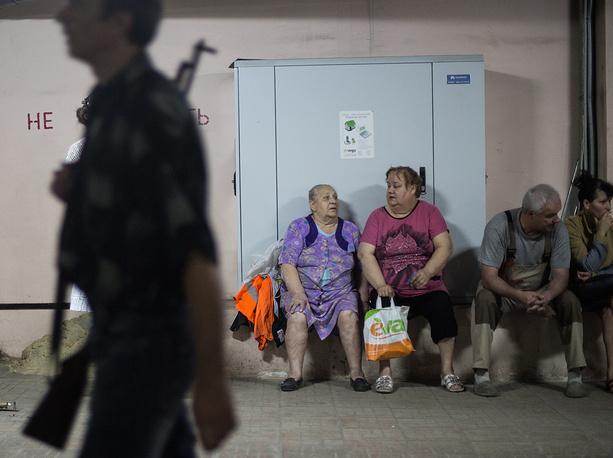 Жителей города эвакуировали в укрытия