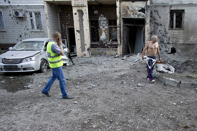 Украинские войска открыли артиллерийский огонь по центральным районам Донецка
