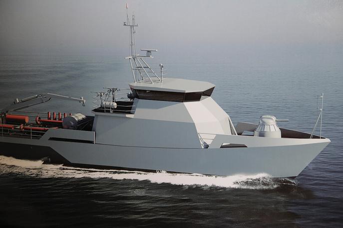 Визуализация рейдового тральщика для Военно-морских сил Республики Казахстан