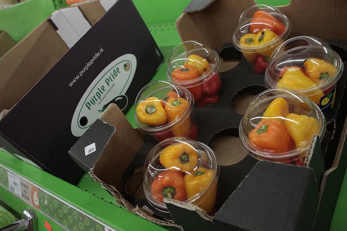 Голландский сладкий перец (на продукцию из стран, подвергшихся санкциям, приходится 5,8% годового потребления овощей в РФ в 2013-м)