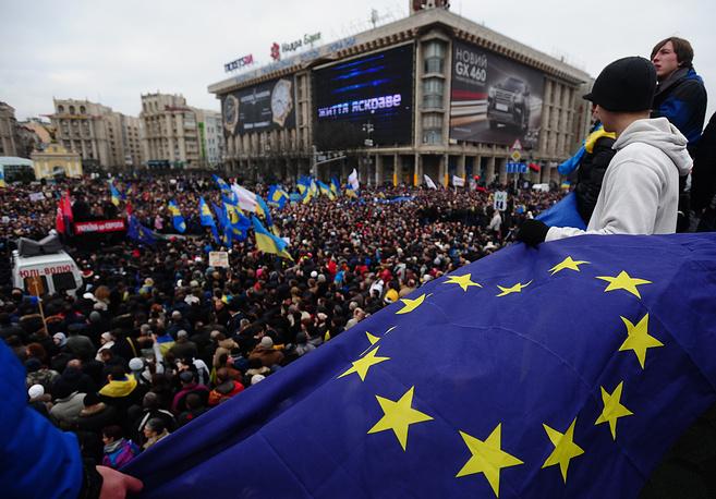 1 декабря 2013 года митингующие в Киеве захватили Дом профсоюзов, где разместили штаб оппозиции, а также здания Киевской городской государственной администрации и Киевского городского совета