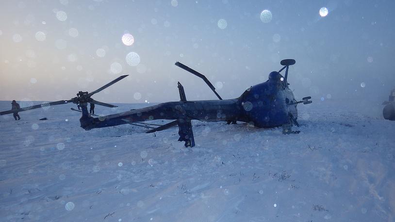 Фото с места происшествия. Февраль 2014 года