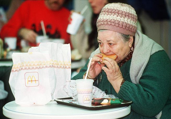 Одна из первых посетительниц, 31 января 1990 года, Москва