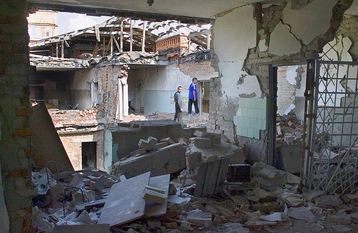 Кабинет ОБЖ в бывшей средней школе № 1 в Беслане, 7 октября 2005 года